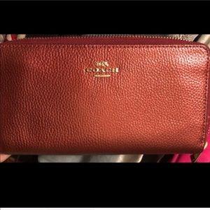 Coach Bags - Metallic Cherry Coach wallet